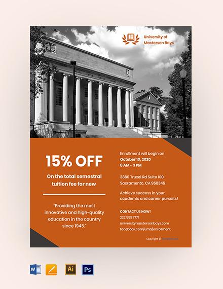 Free Simple University Flyer Template