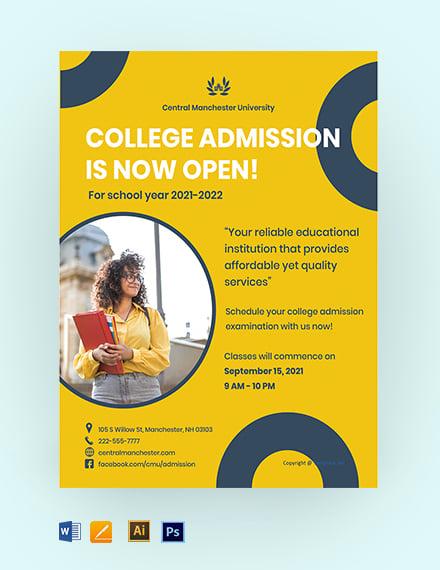 Free Creative University Flyer Template