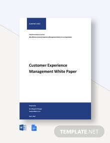 Customer Experience Management White Paper Template
