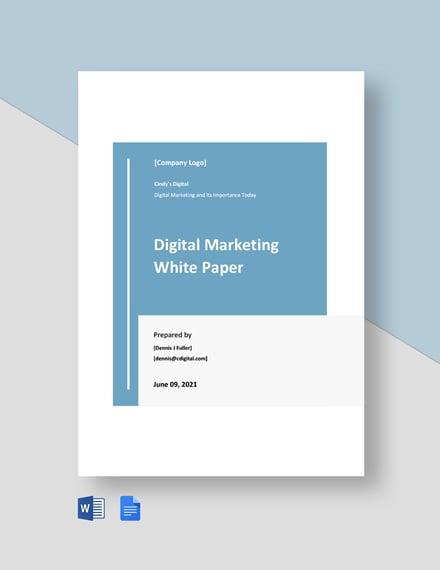 Digital Marketing White Paper Template
