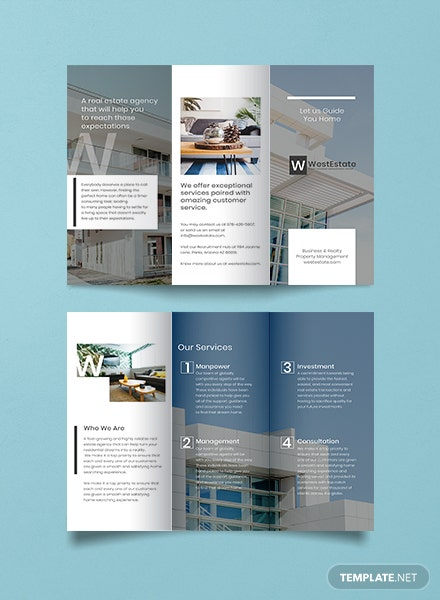 Commercial Real Estate Brochure Template Free Templates