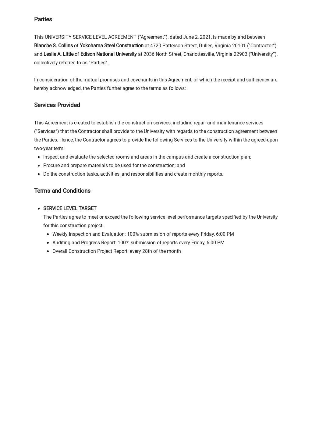University Service Level Agreement Template 1.jpe