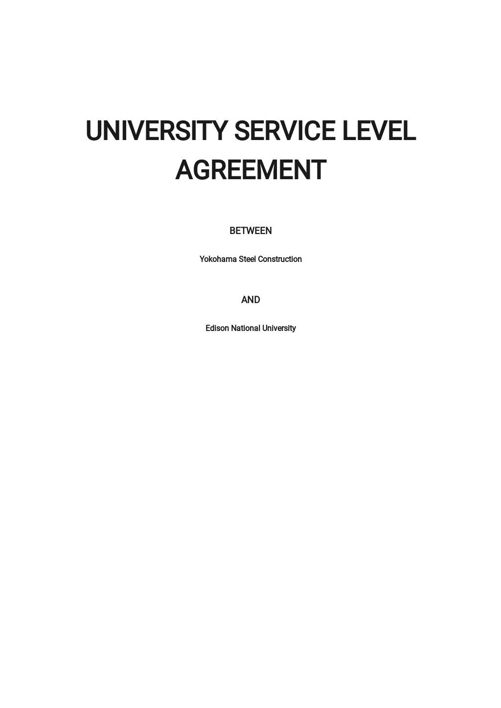 University Service Level Agreement Template.jpe