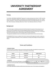 University Partnership Agreement Template