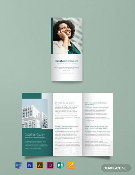 free corporate real estate brochure template 440x570 1