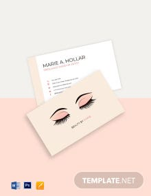 Professional Freelance Makeup Artist Business Card Template