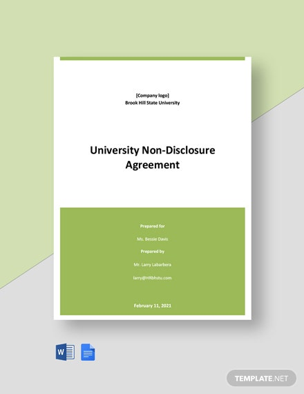University Non-Disclosure Agreement Template