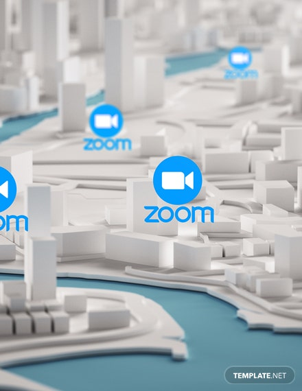 Zoom Conference Virtual Bacground Template