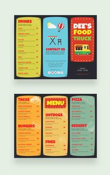 Food Truck Brochure Template