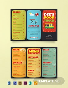 Free Food Truck Brochure Template