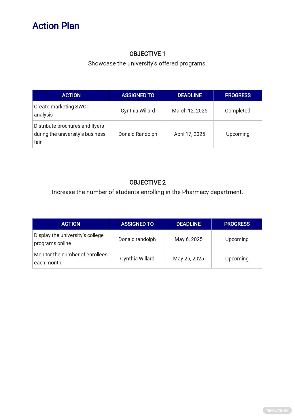 University Project Plan Template 4.jpe