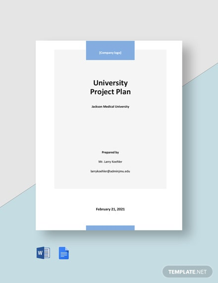 University Project Plan Template
