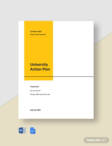 University Action Plan Template