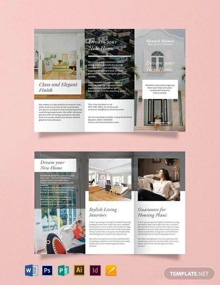 Free Home Real Estate Brochure Template