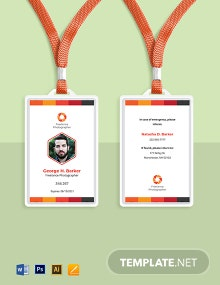 Professional Freelance Photographer ID Card Template