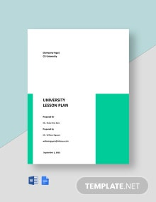 Free Basic University Lesson Plan Template