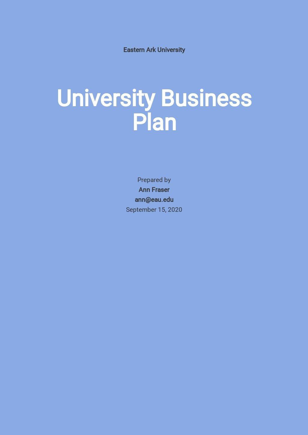 Free Blank University Business Plan Template.jpe