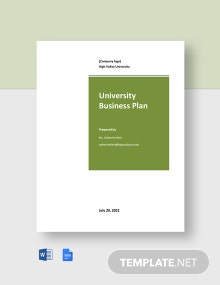 Free Sample University Business Plan Template