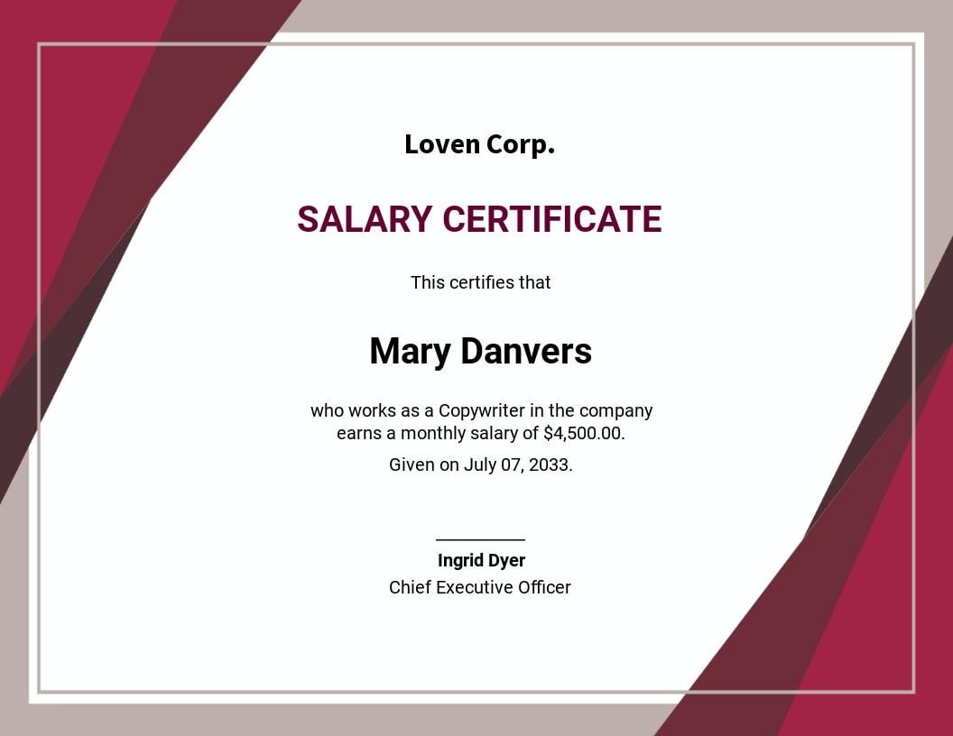 Free Salary Certificate Format.jpe