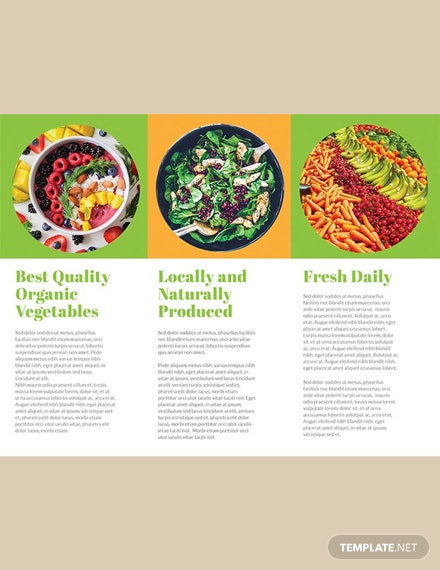 FREE Organic Food Brochure Template Download 151 Brochures In PSD Illustrator Word Publisher Apple Pages Indesign