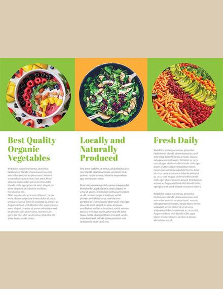free organic food brochure template download 151 brochures in psd