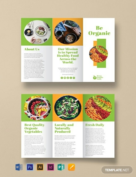 free organic food brochure template