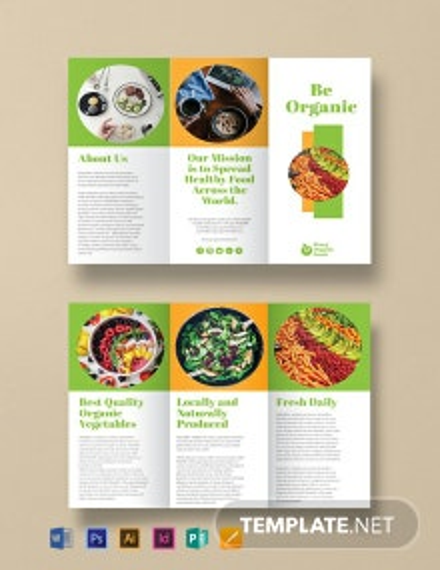 Free Organic Food Brochure Template