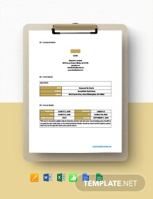 Professional Freelance Writer Invoice Template