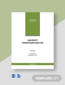 University Stakeholder Analysis Template