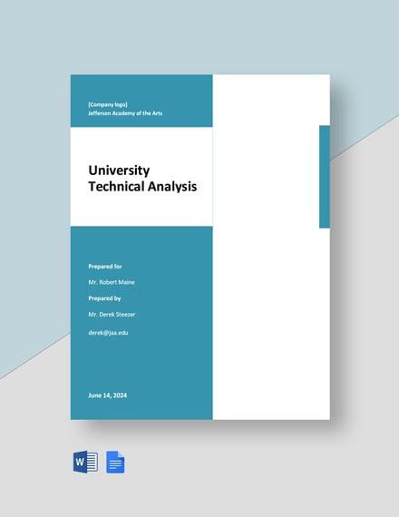 University Technical Analysis Template