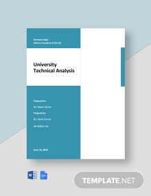 University Technical Analysis Template