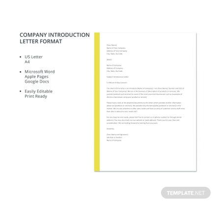 Company introduction letter format template in microsoft word apple company introduction letter format template in microsoft word apple pages google docs template spiritdancerdesigns Image collections