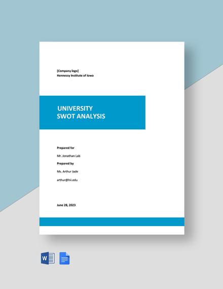 University Swot Analysis Template