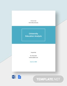 University Education Analysis Template