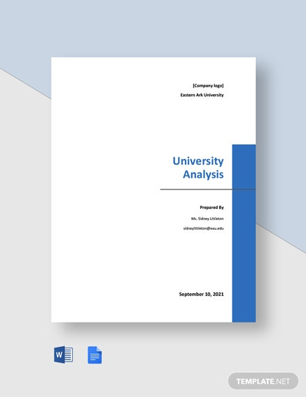 Free Simple University Analysis Template