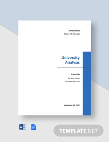 Free Simple University Analysis Template