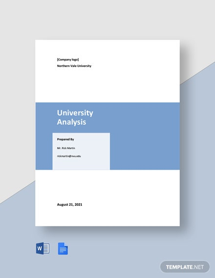 Free Basic University Analysis Template