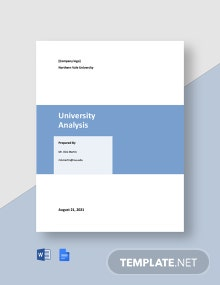 Free Basic University Analysis Template