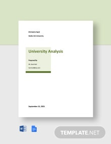 Free Sample University Analysis Template