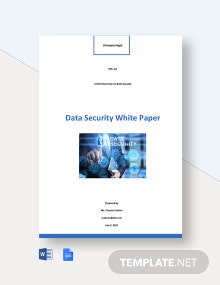 Data Security White Paper Template