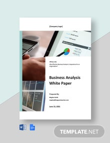 Business Analysis White Paper Template