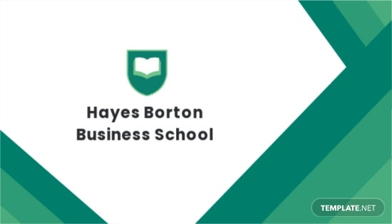Business School Business Card Template.jpe