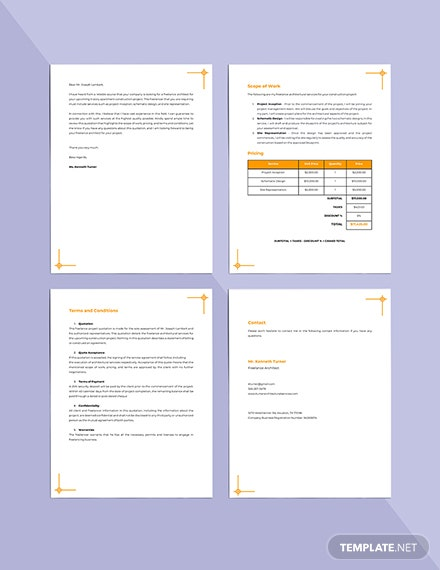 Freelance Project Quotation Template Format