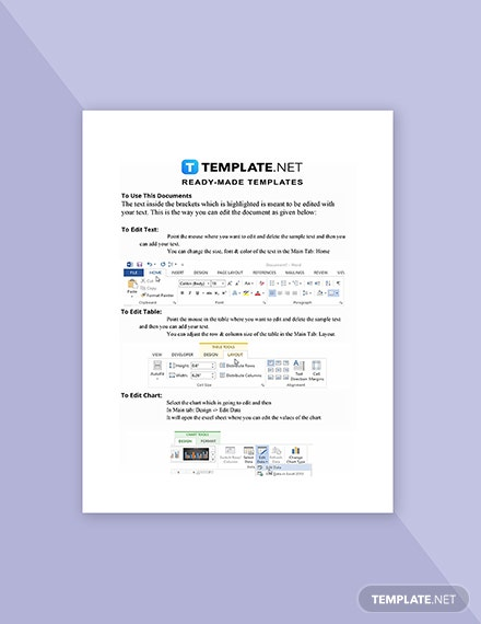 Freelance Project Quotation Template Instruction