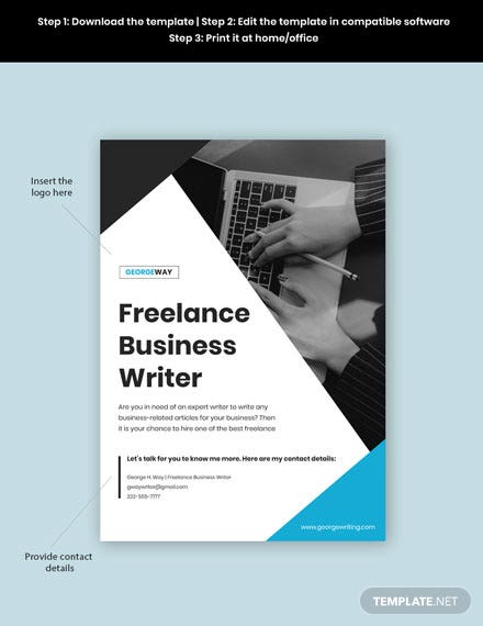 Freelance Writer Poster Guide