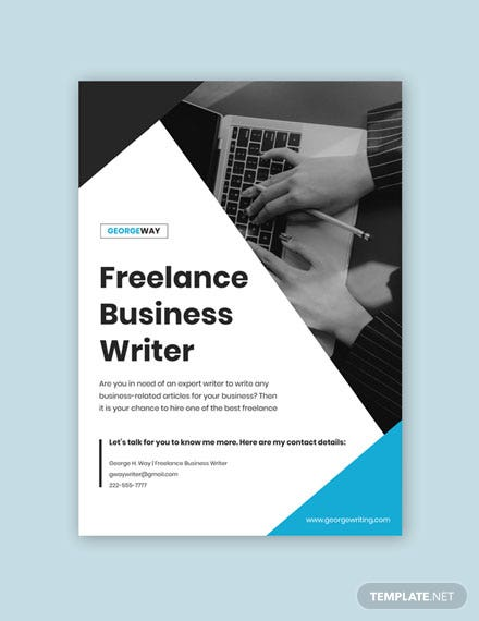 Freelance Writer Poster Printable