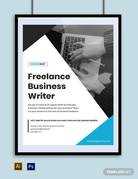 Freelance Writer Poster Sample