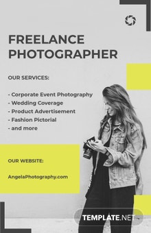 Free Sample Freelance Photographer Poster Template
