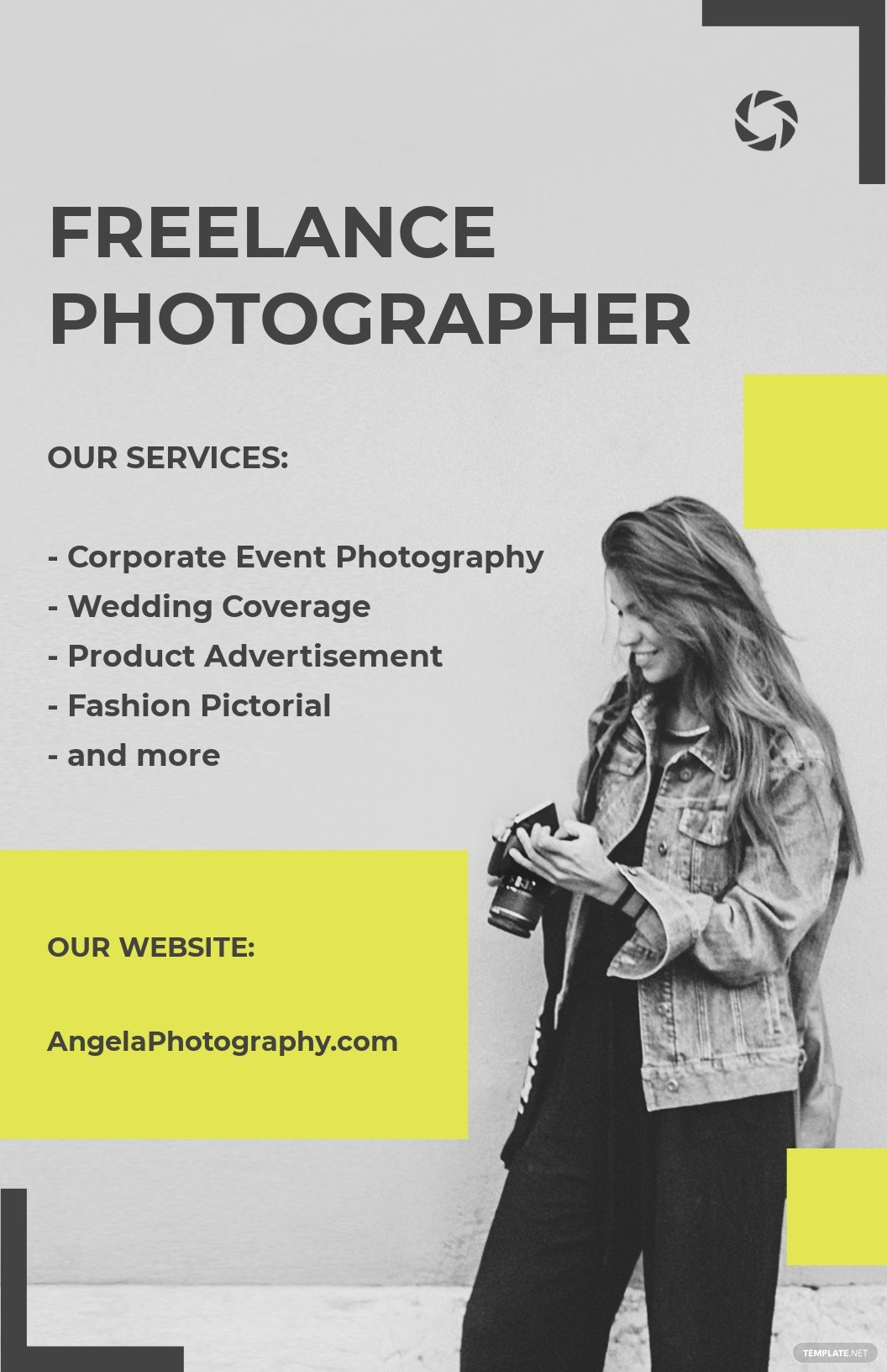 Sample Freelance Photographer Poster Template