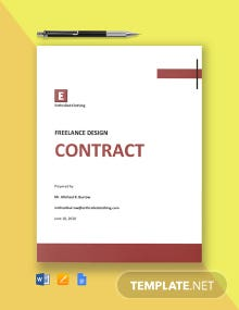 Professional Freelance Design Contract Template